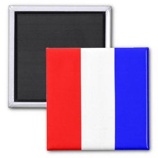 Nautical Flag Alphabet Sign Letter T (Tango) Square Magnet