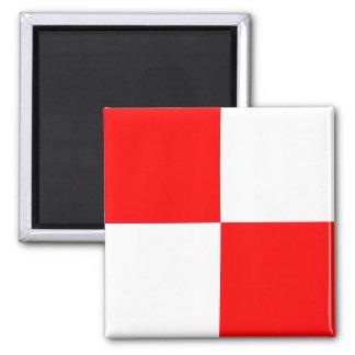 Nautical Flag Alphabet Sign Letter U (Uniform) Magnet