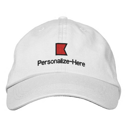 "Nautical Flag ""B"" Personalized Boater's Hat Embroidered Hats"