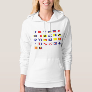 Nautical Flag Chart Hoodie