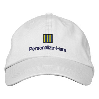 """Nautical Flag """"G"""" Personalized Boater's Hat Embroidered Hats"""