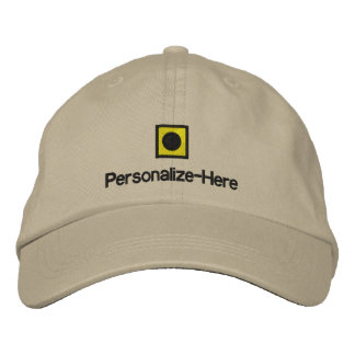 """Nautical Flag """"I"""" Personalized Boater's Hat Embroi Embroidered Hats"""