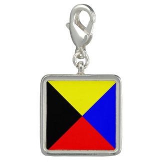 "Nautical Flag Letter Z ""Zulu"" Photo Charms"
