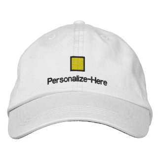 """Nautical Flag """"Q"""" Personalized Boater's Hat Embroi Embroidered Hat"""