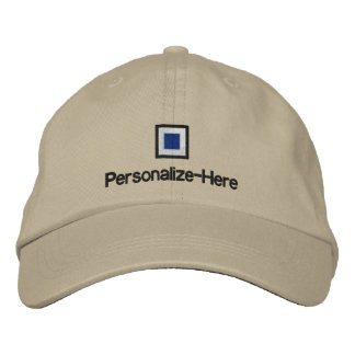 """Nautical Flag """"S"""" Personalized Boater's Hat Embroidered Hats"""