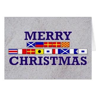 Nautical Flag - Sandy Christmas Card