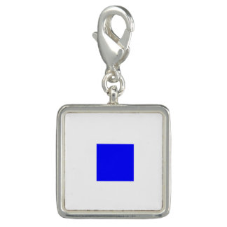 """Nautical Flag Sign Code Letter S """"Sierra"""" Photo Charms"""