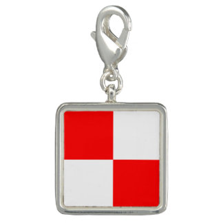 "Nautical Flag Sign Code Letter U ""Uniform"" Photo Charms"