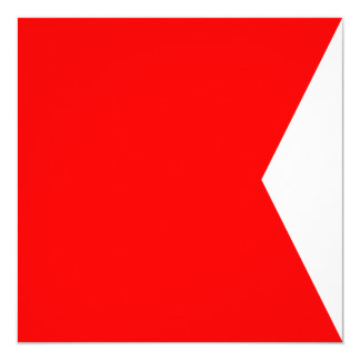 Nautical Flag Signal Bravo Letter B Card
