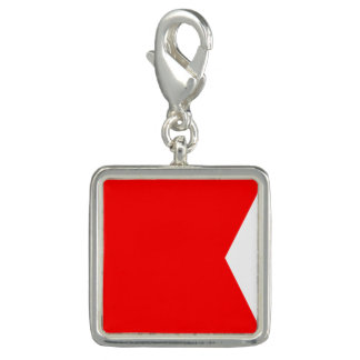 "Nautical Flag Signal Code Letter B ""Bravo"" Charm"