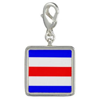 "Nautical Flag Signal Code Letter C ""Charlie"" Charm"