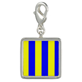 "Nautical Flag Signal Code Letter G ""Golf"" Charms"