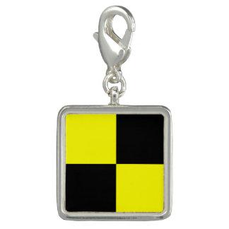 "Nautical Flag Signal Code Letter L ""Lima"" Charm"