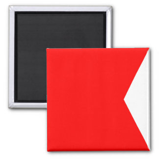 Nautical Flag Signal Letter B (Bravo) Magnet