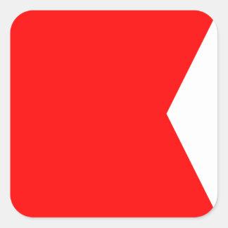 Nautical Flag Signal Letter B (Bravo) Square Sticker