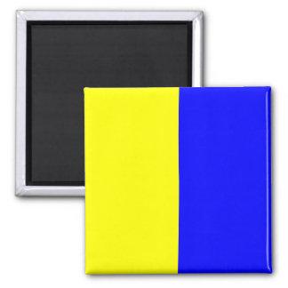 Nautical Flag Signal Letter K (Kilo) Magnet