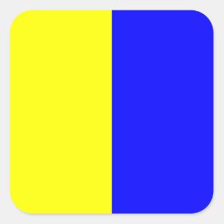 Nautical Flag Signal Letter K (Kilo) Square Sticker