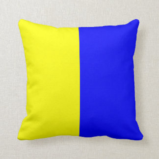 Nautical Flag Signal Letter K Throw Pillow