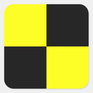 Nautical Flag Signal Letter L (Lima) Square Sticker