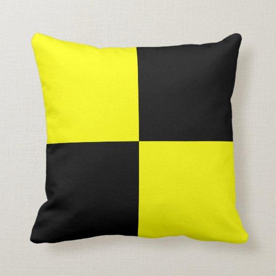 Nautical Flag Signal Letter L Throw Pillow