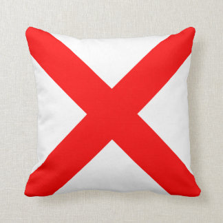 Nautical Flag Signal Letter V Victor Throw Pillow