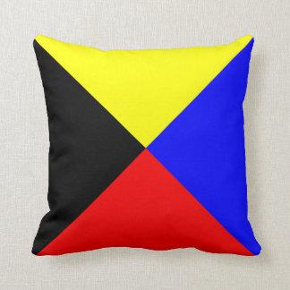Nautical Flag Signal Letter Z Zulu Throw Pillow