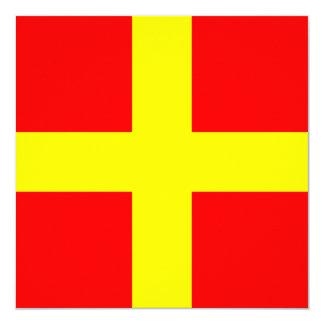 Nautical Flag Signal Romeo Letter R Card