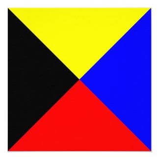 Nautical Flag Signal Zulu Letter Z Card