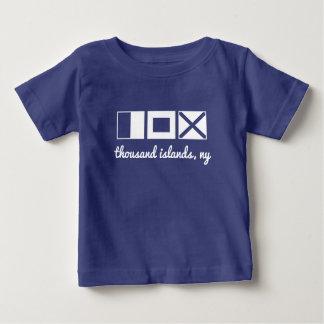 Nautical flag tee, monogram/personalize initials baby T-Shirt