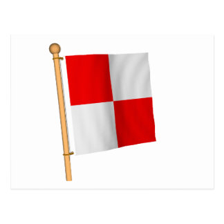 Nautical Flag 'U' Postcard