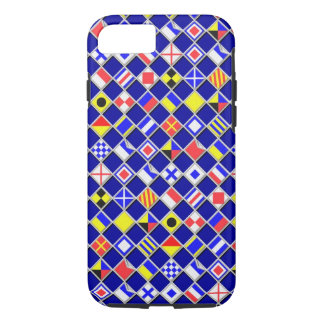 Nautical Flags Checkered Pattern iPhone 7 Case