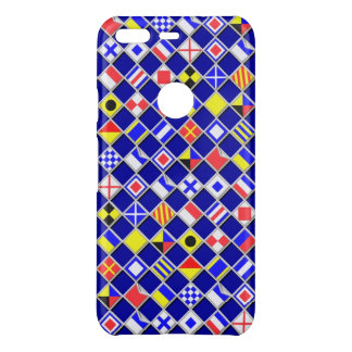 Nautical Flags Chequered Pattern on a Uncommon Google Pixel Case