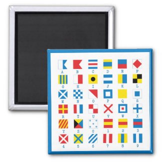 Nautical Flags Maritime Signals Alphabet Magnet