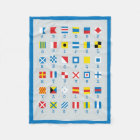Nautical Flags Maritime Signals Fleece Blanket