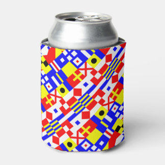 Nautical Flags Pattern Can Cooler