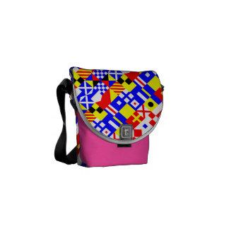 Nautical Flags Pattern Messenger Bag