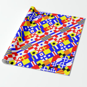 Nautical Flags Pattern Wrapping Paper