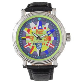 Nautical Flags Port Richman Yachting Wrist Watch
