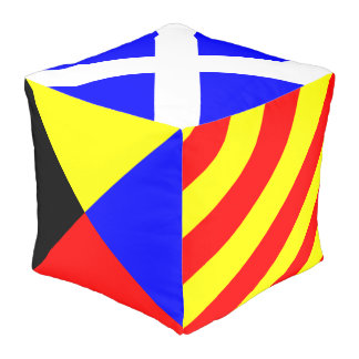Nautical Flags Pouf