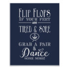 Nautical Flip Flop wedding party print
