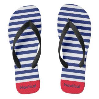 Nautical Flip Flops