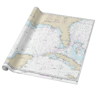 Nautical Florida Gulf of Mexico Mariner's Chart