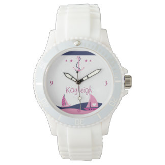 Nautical Girl Personalized Watch