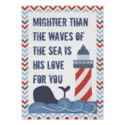 Nautical God is Mighty Psalm 93 Large Poster