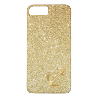 Nautical Gold Glitter Anchor iPhone 7 Plus Case