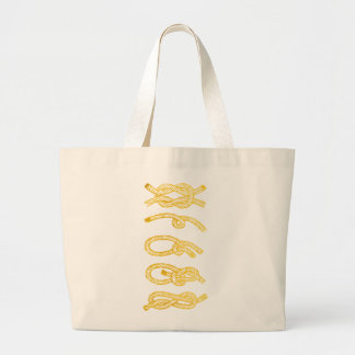 Nautical Gold Rope Tote