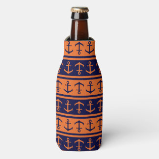 Nautical Halloween pattern Bottle Cooler