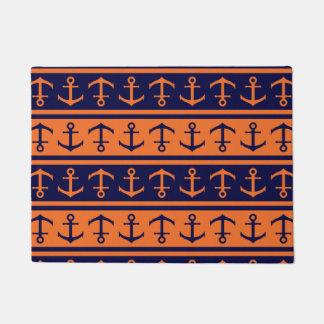 Nautical Halloween pattern Doormat