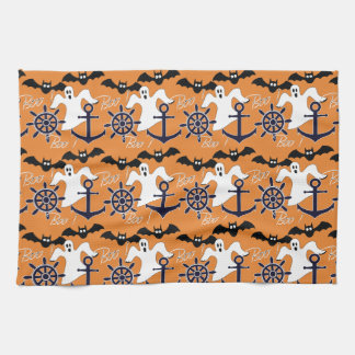 Nautical Halloween pattern Kitchen Towel
