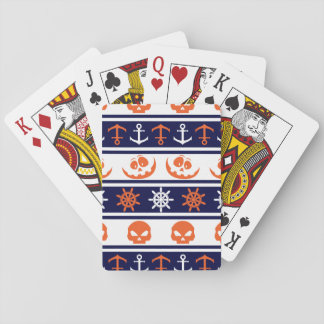Nautical Halloween pattern Playing Cards